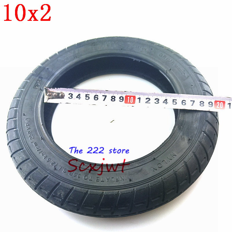 Image 5 - Upgraded 10 Inches Electric Scooter Xiaomi Mijia M365 front Motor wheel tyres & Inflation rear tyres Wheel 10x2 Outer Inner Tube-in Tyres from Automobiles & Motorcycles