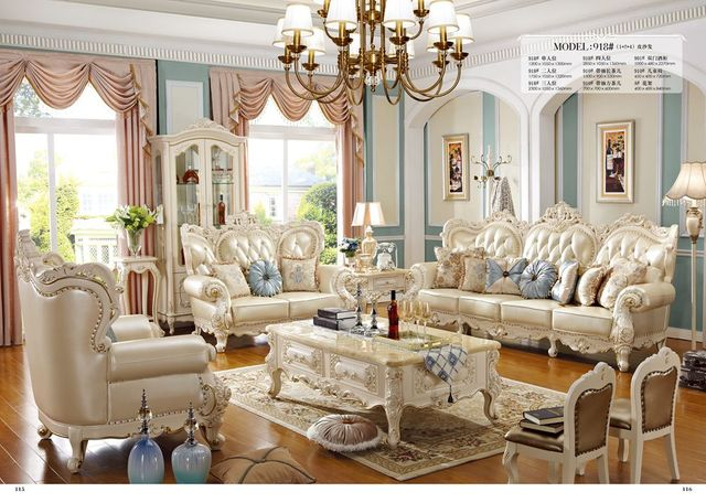 2017 Neue Ankunft Echtem Leder Chesterfield Sofa Europäischen Stil Moderne  Set Wohnzimmer Sofas Sofa Set