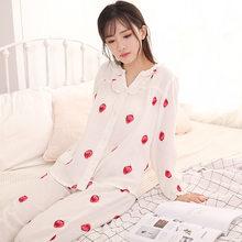 ec1edee36e80d С v-образным вырезом Повседневное Для женщин белье пижама с длинными  рукавами комплект с длинными