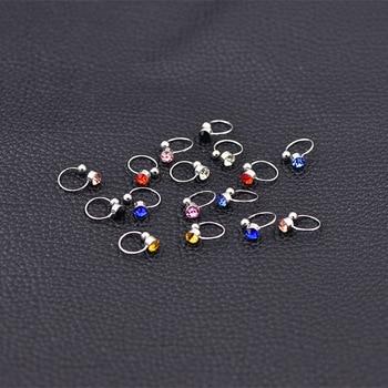 Clip Earrings 17 Colors Crystal Fake piercing Zinc Alloy Ear clips 4mm crystal 3