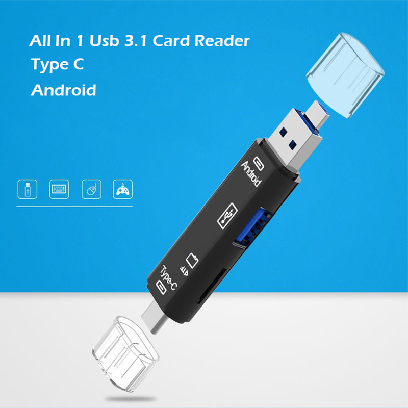 Image 2 - Все в 1 Usb 3,1 кард ридер высокоскоростной SD TF Micro SD кард ридер Тип C USB C Micro USB память OTG кард ридер-in Считыватели карт памяти from Компьютер и офис