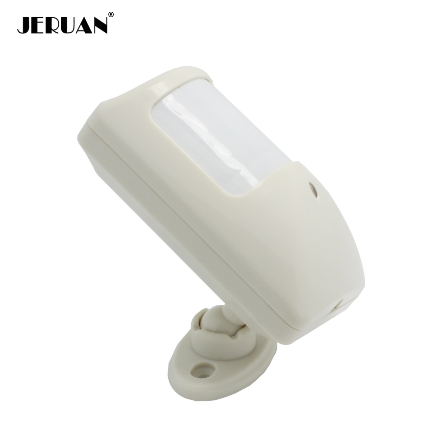 JERUAN  mini Dual-infrared detector wired PIR sensor anti burglar thief indoor passive infrared motion detector NO/NC optional 1 pcs x hc sr505 mini infrared pir motion sensor precise infrared detector module new