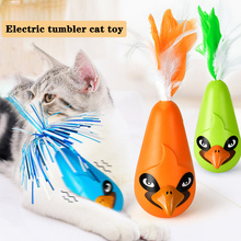 Pet cat toy, electric tumbler funny stick, toy feather