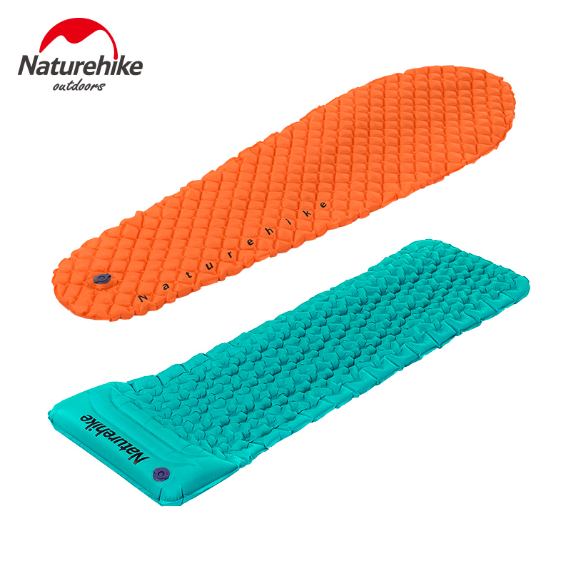 size 40 fda21 b84af US $31.9 55% OFF NatureHike Inflating Sleeping Pad Outdoor Hiking Camping  Mat Lightweight Camp Air Mattress with Pillow-in Camping Mat from Sports &  ...