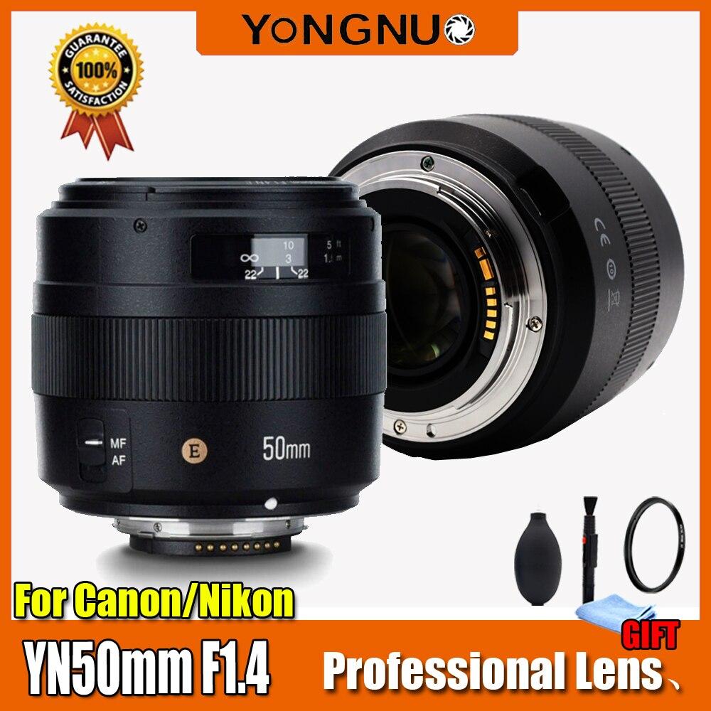 Original YN50mm Lens YN50mm F1 4 F1 4N E Standard Prime Lens Large Aperture Auto Focus
