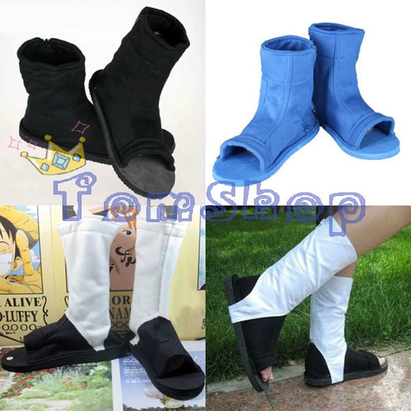 Naruto Shippuuden Uzumaki Uchiha Sasuke Hatake Kakashi Akatsuki Hidan Itachi Madara Cosplay Costume Ninja Shoes Boots 4 Styles