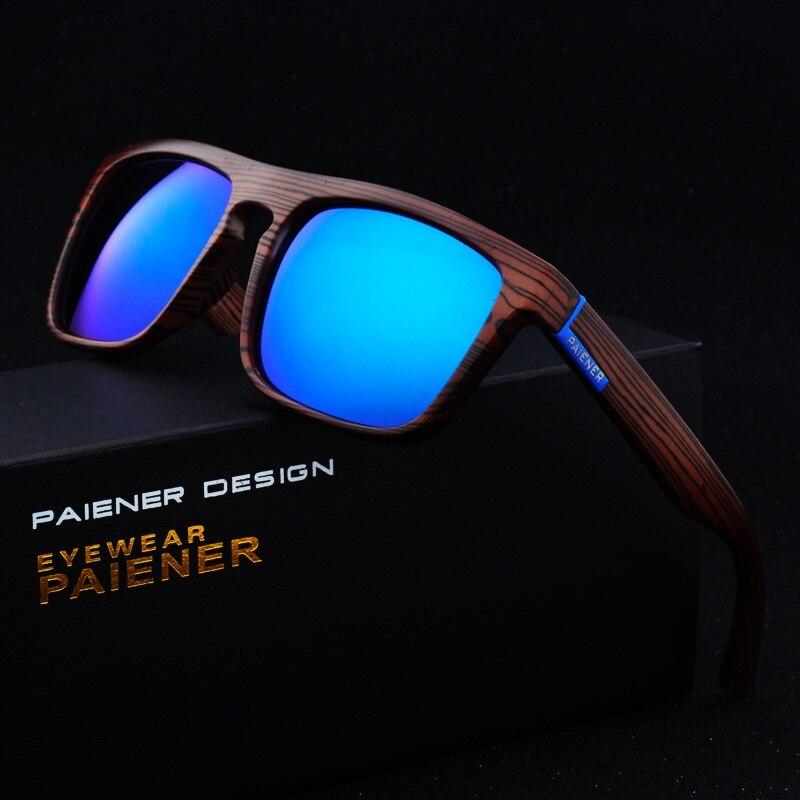 Gafas de sol Retro de madera de bambú de imitación para hombre y mujer gafas deportivas de diseñador de marca gafas de sol de espejo dorado gafas de sol