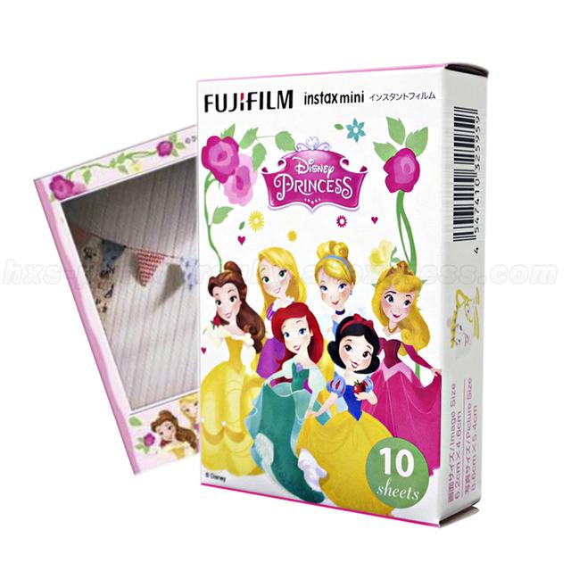 Edición limitada princesa fujifilm instax mini 8 instant film 10 hojas de papel fotográfico para mini cámara y compartir impresora de teléfonos inteligentes