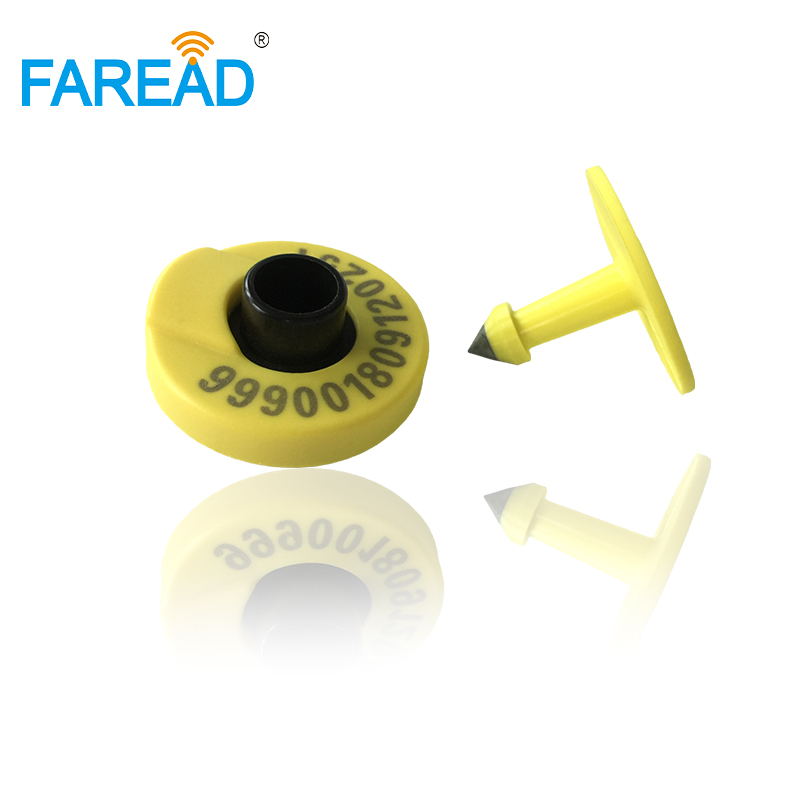 Wholesale X100 Pairs Animal ID Round Ear Tag For Cow,cattle,pig,sheep RFID Animal Identification Visual Tag HDX Standard