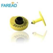 卸売 x100 ペア動物 ID ラウンドの耳タグ牛、牛、豚、羊 RFID 動物識別視覚タグ HDX 標準