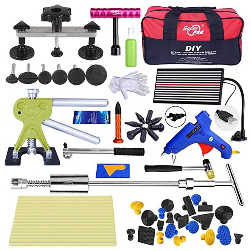 1 pcs kit dent kit de réparation avec colle onglets de voiture outils pour réparation de carrosserie automobile PDR grêle fosse de réparation outil