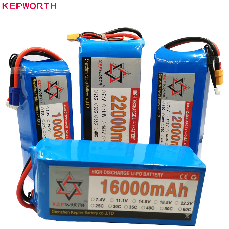 4S 14.8V RC Lipo Battery High Power 10000 12000 16000 22000mAh For Helicopter Drone Plane Car Toy RC Li-Po Battery High Capacity