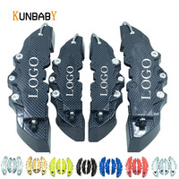 KUNBABY Factory 4Pcs 1Sets Brake Universal Caliper Cover Car Styling Front And Rear Car Accessories Fit