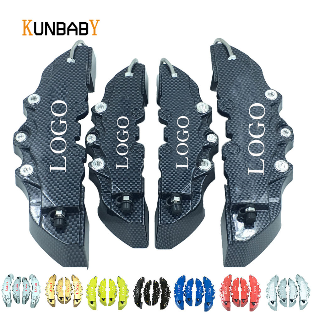 цена на KUNBABY Car Styling 4Pcs Brake Universal Caliper Cover Car-Styling Front Rear Car Accessories Fit For 14-17inch Caliper Covers
