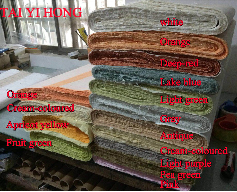 New Color Lake Blue Light Green Pea Green Pink Chinese Yunlong Xuan Paper For Calligraphy or Painting Handmade Rice paper цена