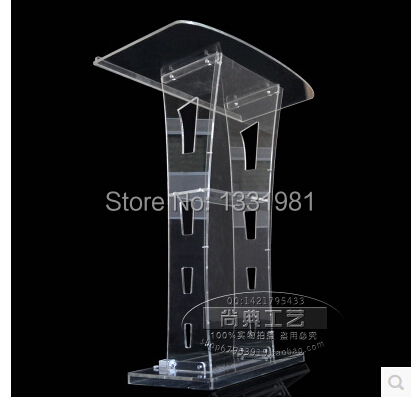 Free Shipping Pulpit Furniture Acrylic Lectern/Podium, Lucite Rostrum/Pulpit, Acrylic Dais