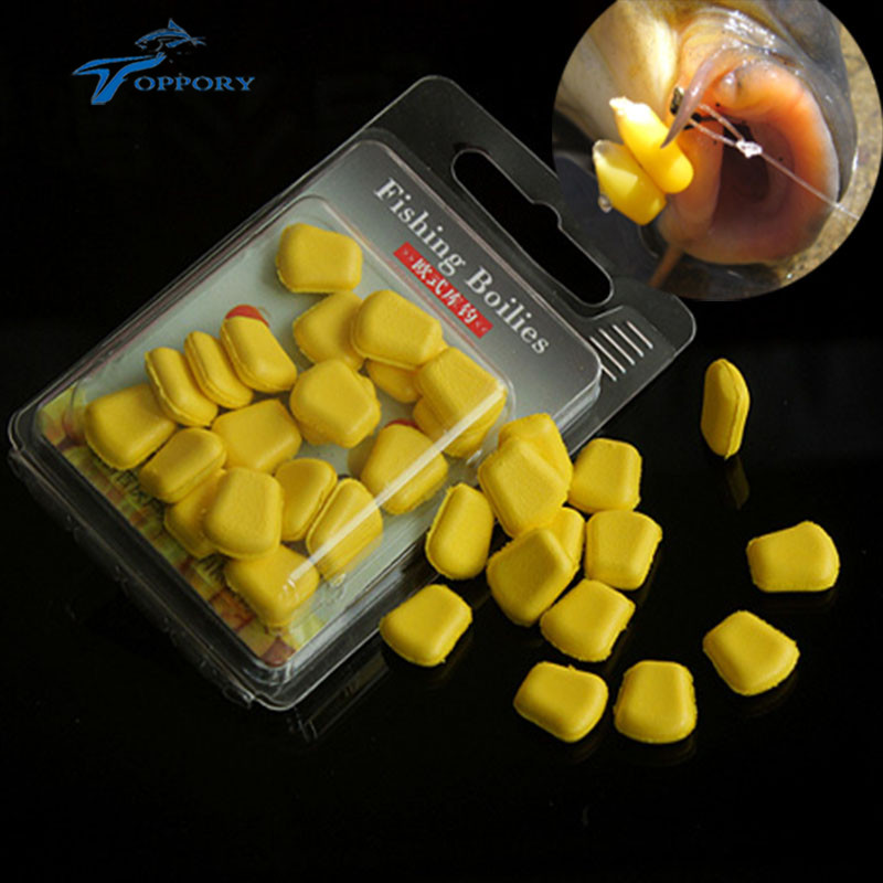 Toppory 20PCS / Väska Pop Up Corn Shape Konstgjord Carp Fishing Bete Floating Boilies For Grass Carp DIY Lure Bete Terminal Tackle