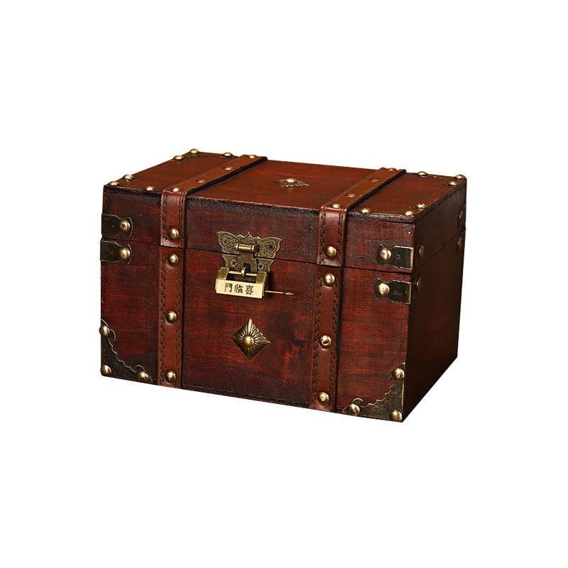 Wood-Storage-Box Jewelry-Box Packaging Organizer Craft Lock-Suitcase Desket-Decorations