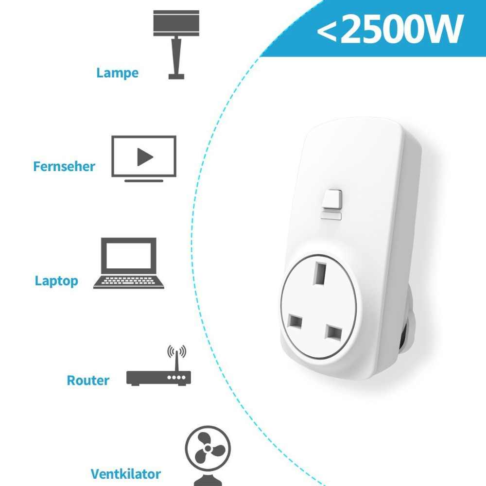 W wielkiej brytanii gniazdo bezprzewodowe zestaw z 2 wtyczki i 1 przełącznik bezprzewodowy poręczny pilot zdalnego sterowania gniazdka elektrycznego dla urządzeń domowych do do 30 m