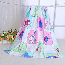 Cute Elephant Summer Spring Baby Blanket Cotton Swaddle Wrap For Newborns Bath Nursing Towel Bed Sheet Stroller Cover