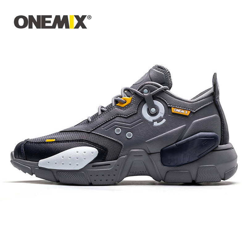 ONEMIX 2019 New Men Running Shoes Technology Style Comfortable Damping Fashion Unisex Sport Tennis Dad Shoe Men Jogging Sneakers