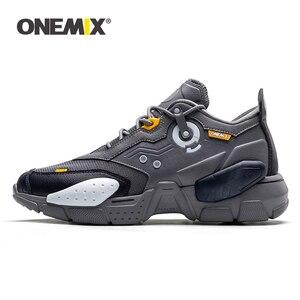 Image 1 - ONEMIX 2020 erkekler koşu ayakkabıları teknoloji tarzı rahat sönümleme moda Unisex spor tenis baba ayakkabı erkekler koşu Sneakers