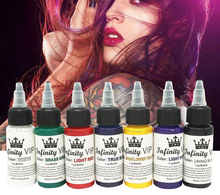 7 Colors set Permanent Tattoo Ink Set 1 Oz 30ml/Bottle Tattoo Inks Pigment for Tatoo Makeup Beauty Skin Body Art tattoo ink 25 colors set 1oz 30ml bottle tattoo inks pigment kit for tatoo makeup beauty skin body painting permanent makeup ink