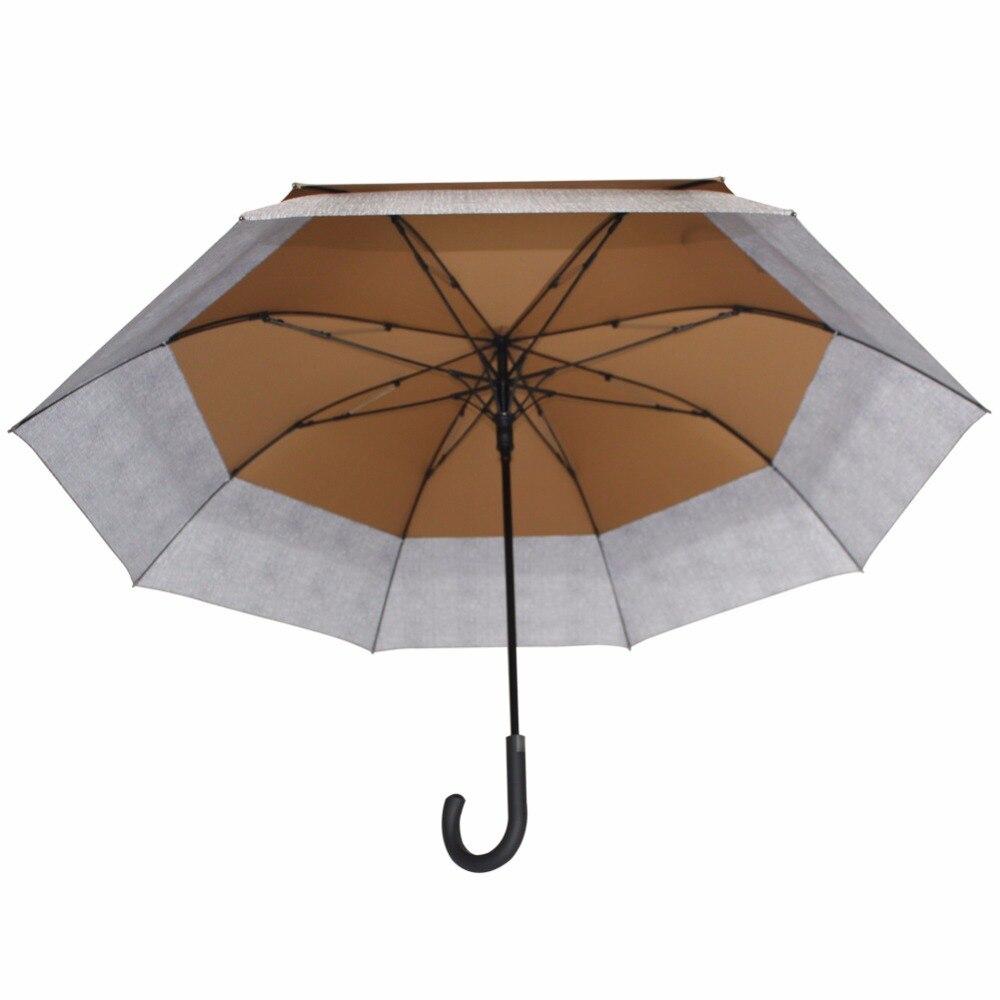 Susino grand parapluie adultes parapluies bâton semi-automatique design magique bleu Long manche coupe-vent parapluies rétractables - 4