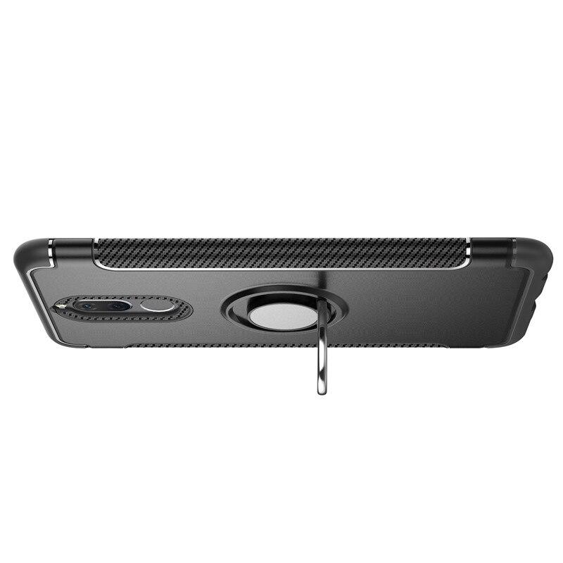 Для huawei Коврики 10 Lite Роскошные противоударный металлический держатель кольца Combo телефон чехол для P8 P9 Lite 2017 P10 P20 pro гибридный Броня чехол