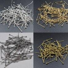 Fltmrh 600 pçs 18mm prata chapeado pinos bola para diy jóias pulseira colar brinco fazendo acessórios para jóias comprimento