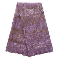 Puple lilac african swiss lace fabric soft china market dubai dress making african lace fabric 2017 gold black for wedding