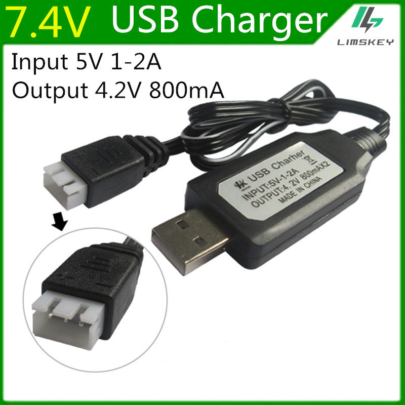 7.4V Lipo Battery Charging Units USB Battery Charger With Protection Board  For RC UAV  Lipo Battery Charger 7.4v