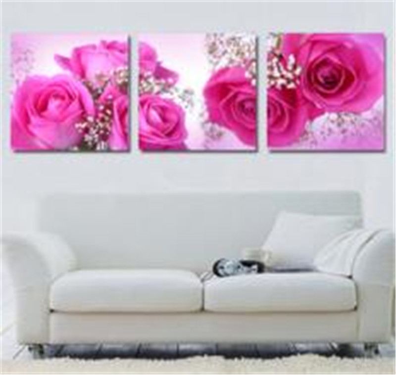 square drill pin roses modern home decoration diamond painting ...
