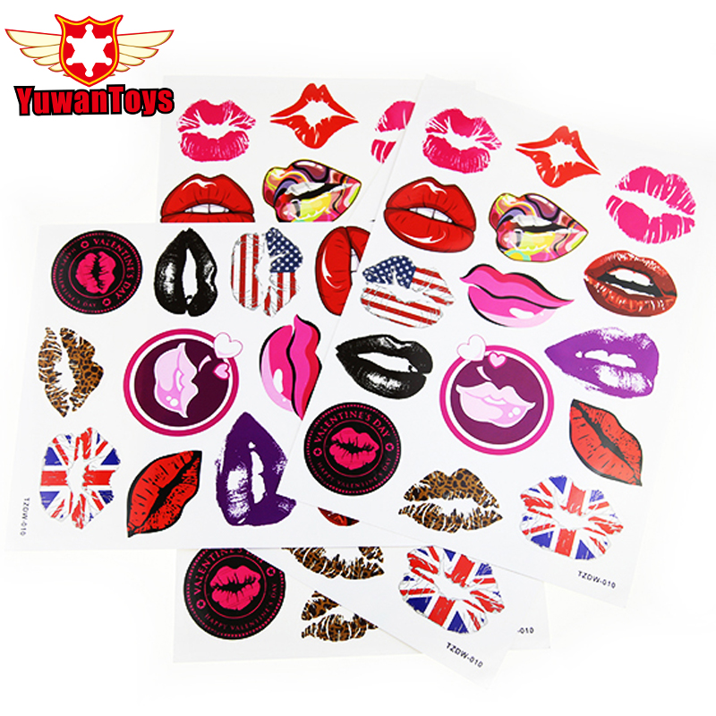 1Sheet Mouth Stickers For Skateboard Laptop Luggage Fridge Phone Home Decoration Waterproof Creative Toy Sticker Not Repeating