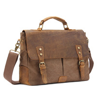 Men Fashion Satchel Messenger Bags Solid Color Canvas Messenger Bag Casual Shoulder Messenger Crossbody Bags