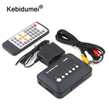 Kebidumei DC 5 В 2A HD 1080P USB HDMI медиаплеер коробка ТВ видео для SD MMC RMVB MP3 Мульти ТВ с ИК-пультом дистанционного управления