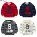 Winter Boys Cotton Padded Hoddies Baby Kids Long Sleeve Velet T Shirt Toddler Warm Fleece TShirt Children Sweatshirt  S2S005