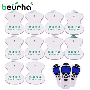 Beurha 10PCS Pad Electrode Pads for Digital TENS Therapy Machine Electronic Cervical Vertebra Physiotherapy Massager Pad Medium