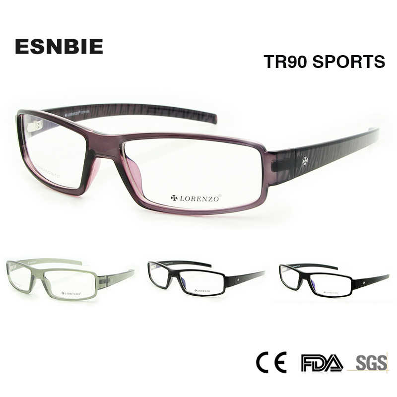 d394419a28d ENSBIE New TR90 Memory Flexible Eyeglasses Frame for Men Accept Optical  Glass Lens Rx Prescription Eyewear