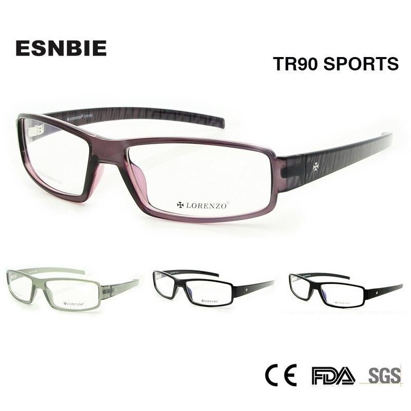 ad706c6450 ENSBIE New TR90 Memory Flexible Eyeglasses Frame for Men Accept Optical  Glass Lens Rx Prescription Eyewear