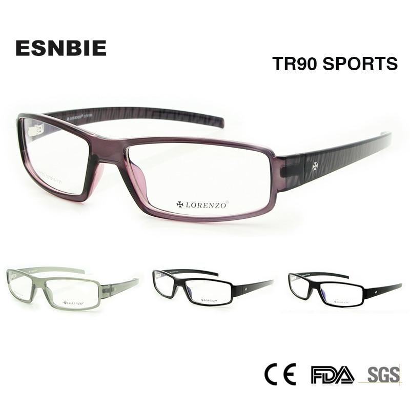 71d9e70506021 ENSBIE Novo TR90 Memória Flexível Óculos de Armação para Os Homens Aceitam  A Lente de Vidro Óptico Óculos de Prescrição Rx
