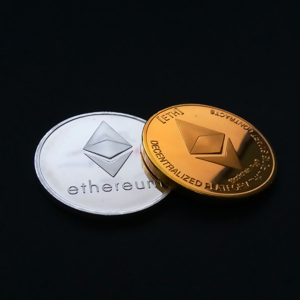Серебряная/позолоченная монета из Ethereum, памятная монета, коллекция Litecoin Art, подарок, физическая антикварная имитация, домашнее украшение