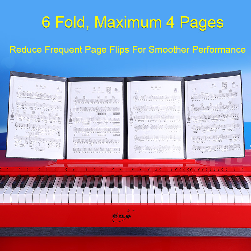 Expanded Sheet Music Score Folder A4 Size Document Paper Staff Collection Folder Can Be Modified Piano Book Folders Accessories