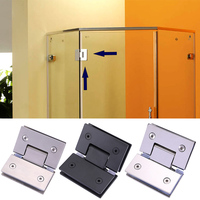 Heavy Duty 135 Degree Glass Door Hinge Cupboard Showcase Cabinet Pivot Glass Shower Doors Hinge JDH99