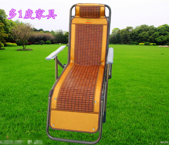 bamboo rattan folding bed recliner leisure chairs office chair lunch