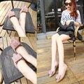 Plus size tamanho EUR 34-43 #3 Cores Da Mulher Da Forma Plana sapatos Primavera Coreano Elegante Senhora Apartamentos Mulher Sapatos Bowtie Projeto ML2780