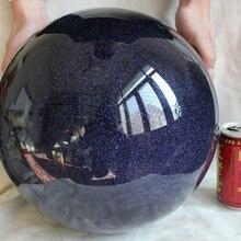78.5LB 295 мм большой синий золотой камень Мигает Хрустальный шар Сфера полированный Исцеление