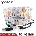 Goodland DC5V USB Cable LED strip light 5050 Christmas Flexible led Stripe TV Background Light 3keys Mini Remote 50CM 1M 2M
