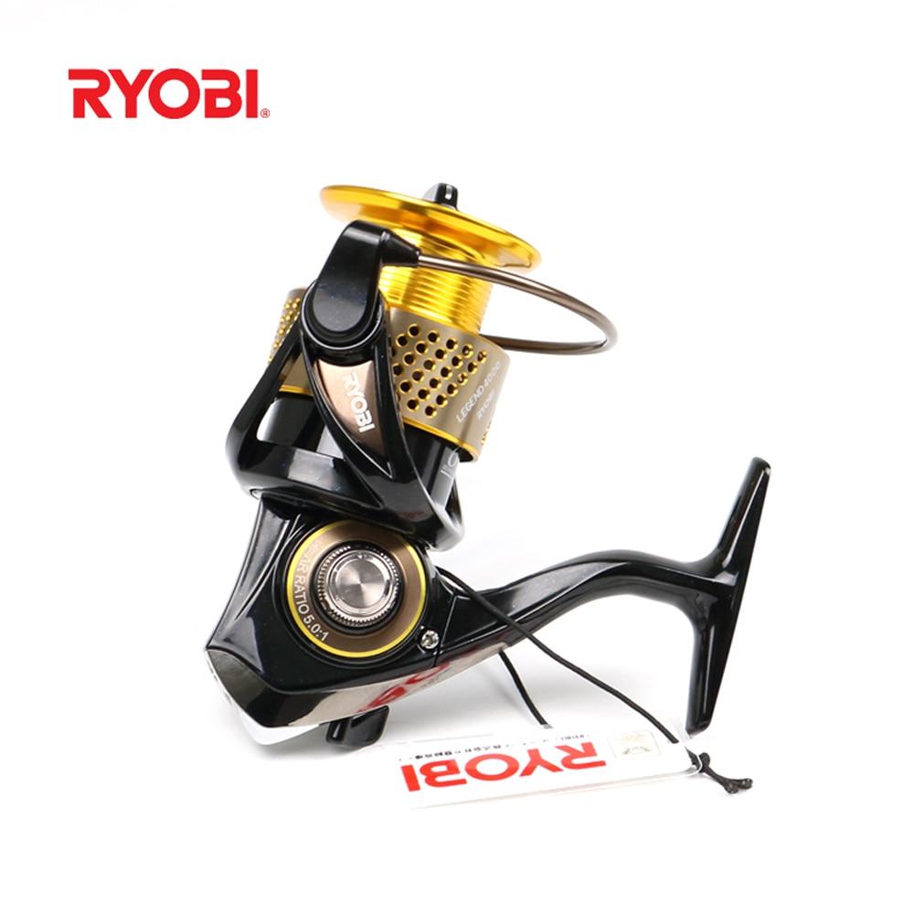 New 100% Original RYOBI LEGEND 6BB/5.1:1 Japan High Quality Spinning Fishing Reel 1000/2000/3000/4000 Carretilha Pesca
