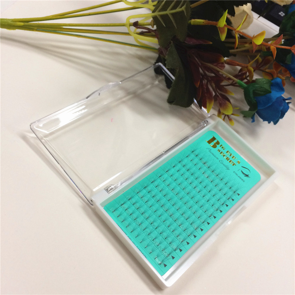 High Quality Own Brand 1 Tray 4D Short Steam Russian Volume Eyelashes Extension Wholesale Price Lashes Extension Free Shipping